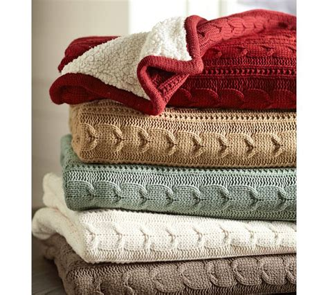 Pottery Barn Cable Knit Throw by Cozy Up Your Living Room
