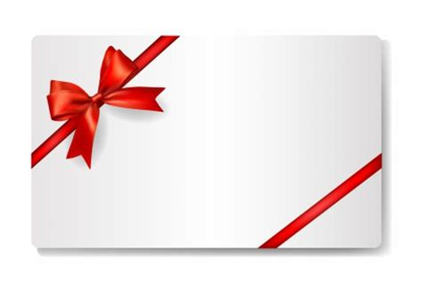 gift card  red ribbon vectors stock  format