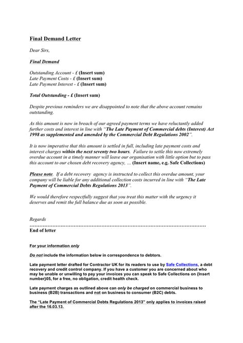 Demand Letter Sample - download free documents for PDF