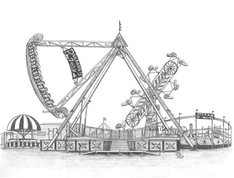 zipper carnival ride coloring page sketch coloring page