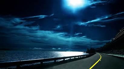 Night Cool Backgrounds Moon Sea Screen Fullscreen
