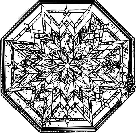 Stained Glass Coloring Page Wecoloringpagecom