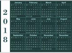 Wall calendar 2018 2018 Calendar printable for Free