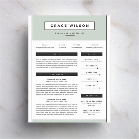 creative resumes that get noticed creative resume template and cover letter by refineryresumeco