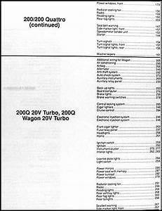 1991 Audi 100  200  And V8 Quattro Wiring Diagram Original