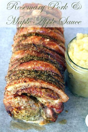 I recommend removing the cooked vegetables from the slow cooker first before adding bbq sauce if you are turning part of your pork loin into pulled pork. Rosemary Roasted Pork with Maple Apple Sauce | Recipe | Pork recipes, Tenderloin recipes, Recipes