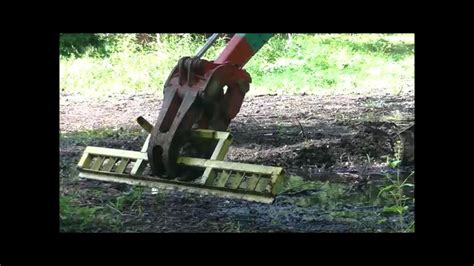 homemade grading bar  mini excavator grapple attachment youtube