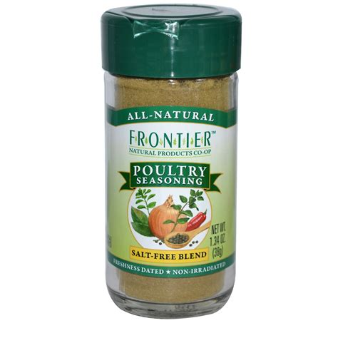 poultry seasoning frontier natural products poultry seasoning salt free blend 1 34 oz 38 g iherb com