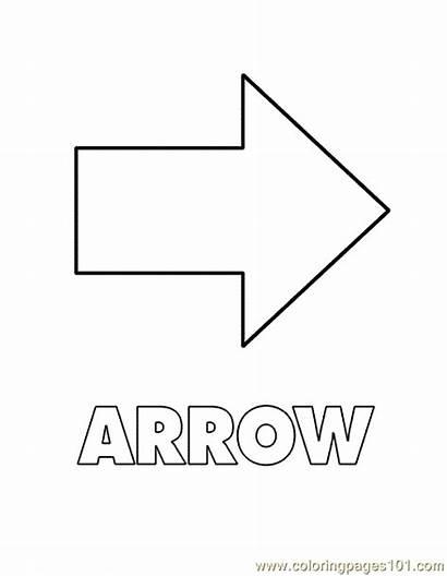 Arrow Shape Coloring Shapes Printable Pages Pdf