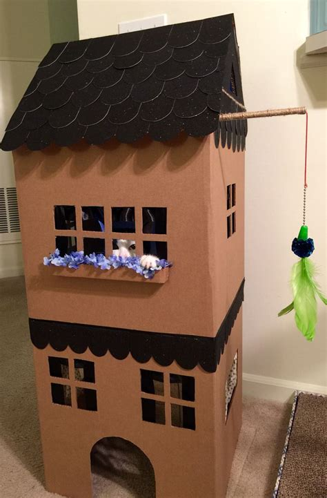 how to house a cat diy simon demott kitty playhouse adapted from martha stewart s cardboard cat house template