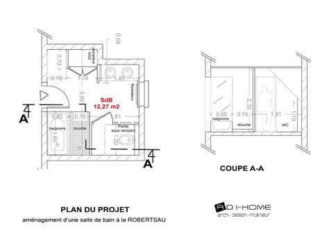 plan chambre salle de bain plan chambre parentale avec salle de bain 8 cr233ation