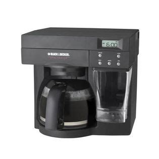 cabinet coffee maker black decker 050875530577 spacemaker 12 cup the