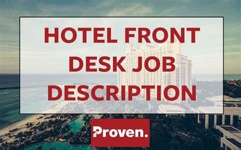 front desk security officer responsibilities front desk clerk job description for resume hostgarcia