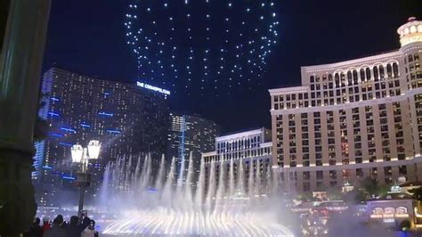 bellagio light show intel presents drone light show bellagio fountains