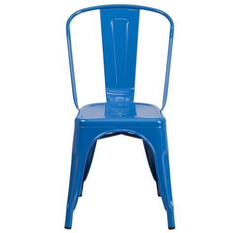 cobalt blue chair cobalt blue galvanized tolix chair in outdoor tablebasedepot