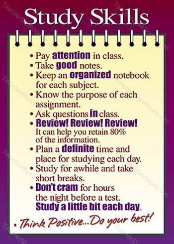 Study Skills Argus® Poster  Home School, Education, Behavior, Etc  Pinterest  School, Middle