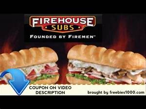 Firehouse Subs Coupons (Printable Coupons) - YouTube