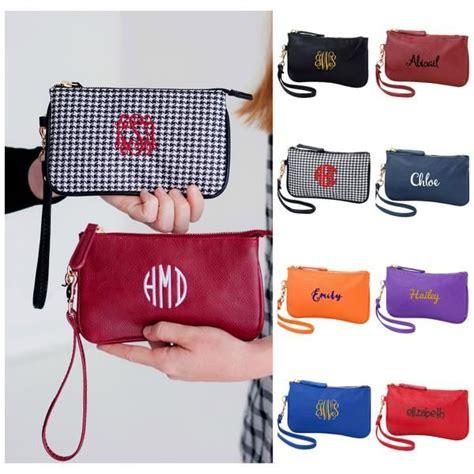 personalized mini wristlet wallet team color personalized diaper bag