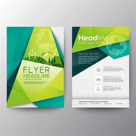 ecology flyer template vector