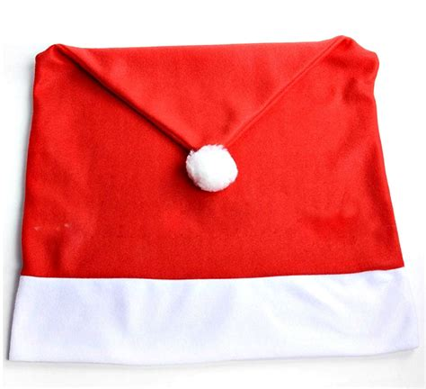 santa hat chair covers 4 pcs lot free shipping worldwide