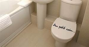 Stickers Muraux Au Petit Coin Pour WC Sticker