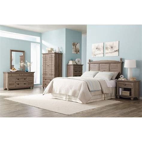 sauder harbor view 6 piece bedroom set salt oak