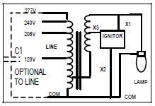 Metal Halide Wiring Diagram 240 Volt by 100 W Metal Halide Ballast Kit Keystone Mh 100x Q Kit