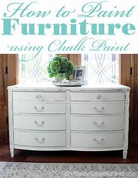 how to use chalkboard paint How to Paint Furniture using Chalk Paint | Confessions of a Serial Do-it-Yourselfer