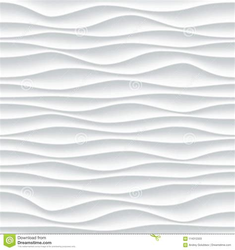 3d Wallpaper Texture Seamless by White Wave Pattern Vector Abstract 3d Background Stock