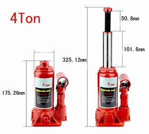 New 20  12  6  4  2 Ton Hydraulic Bottle Jack Low Profile