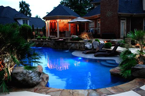 backyard makeover with pool private residence backyard makeover greenville sc eclectic pool other metro by freeman