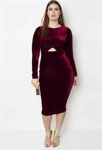 Grisel. Wine Velvet Cutout Dress from Rebdolls | Plus Size