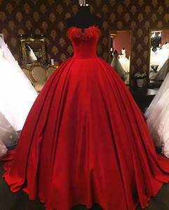 Lovely sweetheart red wedding dresses ball gownsvintage for Wedding dress red
