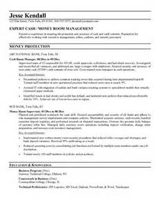 money management skills on resume exle room manager resume free sle