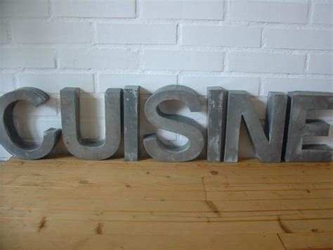 lettre pour cuisine lettres décoratives métal et bois