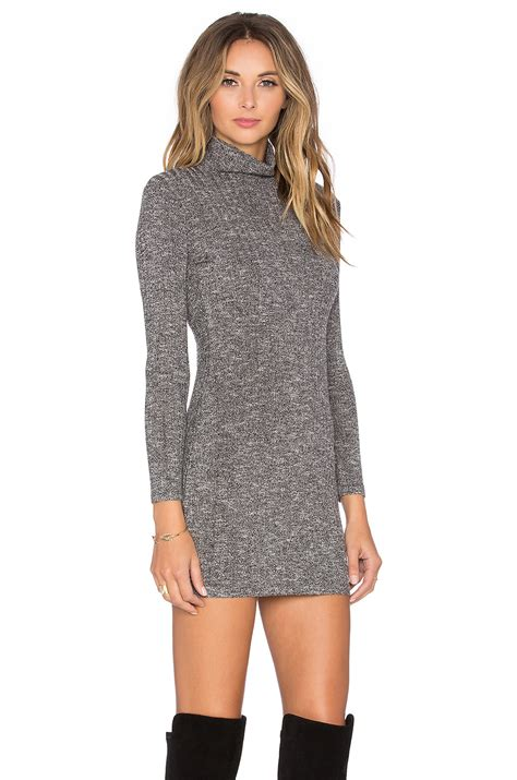 Capulet Synthetic Long Sleeve Turtleneck Sweater Dress In
