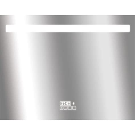 miroir lumineux eclairage int 233 gr 233 l 90 x h 70 cm bluetooth leroy merlin