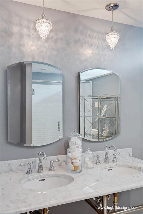 Chandelier Bathroom Vanity by Grey Bathroom Transitional Bathroom Lugbill Designs