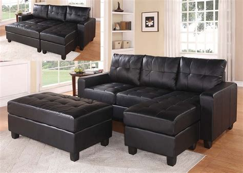 sofa knig dsseldorf otto with otto with sofa lyssa black bonded leather reversible sectional sofa ottoman