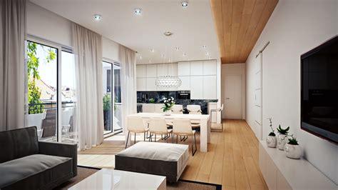 Wohnzimmer Innenarchitektur Visualisierung