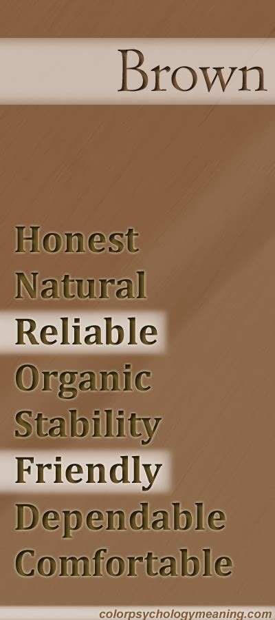 meaning of the color brown color brown color psychology personality meaning