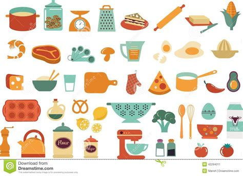 illustration cuisine food icons and illustrations vector collection stock vector image 42294011