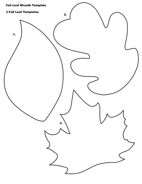 blank leaf coloring pages  kids bf