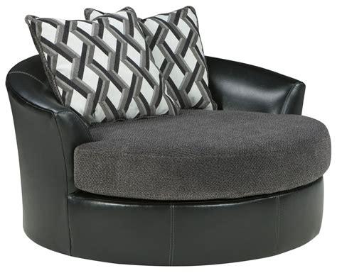 kumasi smoke oversized swivel accent chair from