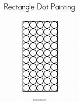 Rectangle Dot Coloring Painting Worksheet Letter Sheet Handwriting Mitten Thanksgiving Built California Noodle Usa Twistynoodle sketch template