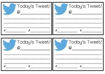 Twitter Blank Tweet Template by Today S Tweet Template By Miss Mckay S Classroom Tpt