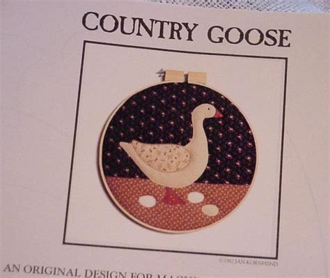 Applique Country by Goose Applique Pattern Country Appliques Or Machine
