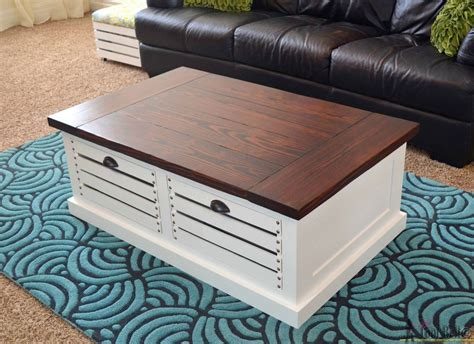 Hometalk  Coffee Table With Crate Storage Drawers And Stools