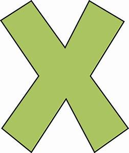 Green Letter X Clip Art Green Letter X Image