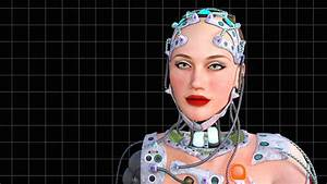 artificial intelligence, animation, tehno woman,girl robot ...